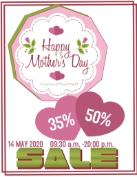 Mothers Day 传单(美国信函) template