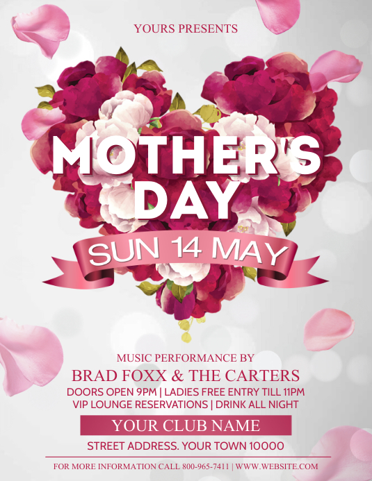MOTHERS DAY ใบปลิว (US Letter) template