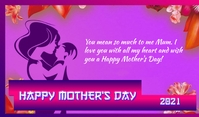 Mothers day Тег template