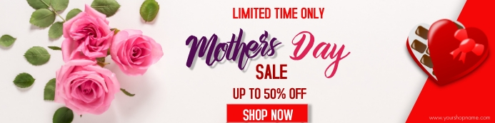 Mothers Day Bannier 2' × 8' template
