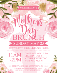 MOTHERS DAY Pamflet (Letter AS) template