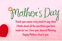Mothers day Label template