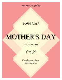 mothers day dinner flyer template
