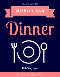 mothers day dinner template