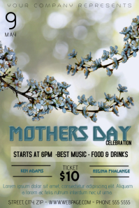 Mothers Day event flyer template Poster