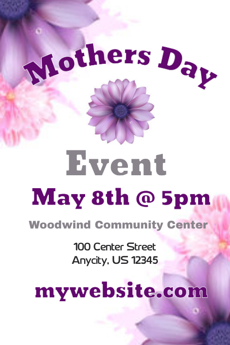 Mothers Day Event Flyer Template | PosterMyWall