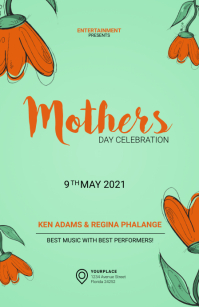 Mothers Day Event Flyer Template Tabloïd