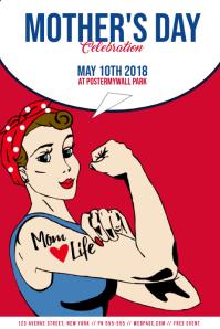 Mothers Day Event Flyer Template pop art