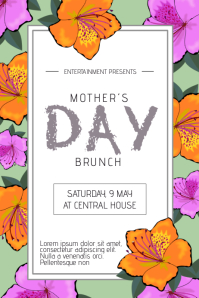 Mothers Day event flyer template