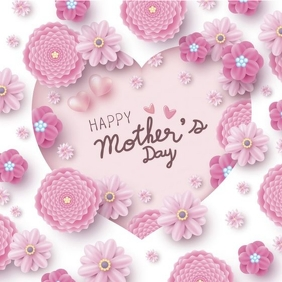 MOTHERS DAY FLYER Square (1:1) template