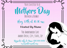 mothers day Invitaiton