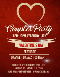 Couples Party Flyer (format US Letter) template