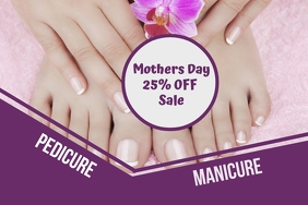 Mothers Day Manicure and Pedicure Sale 海报 template