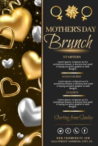mothers day menu Poster template