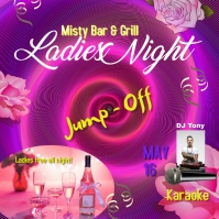 mothers day night event bar restaurant ladies Instagram-Beitrag template