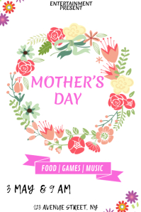 Mothers day party flyer template