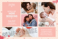 Mothers Day Photography Mini Session Этикетка template