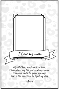 Mothers Day poster greeting card Template Póster