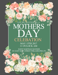 Customizable Design Templates For Mothers Day Flyer