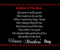 Mothers day quote Grand rectangle template