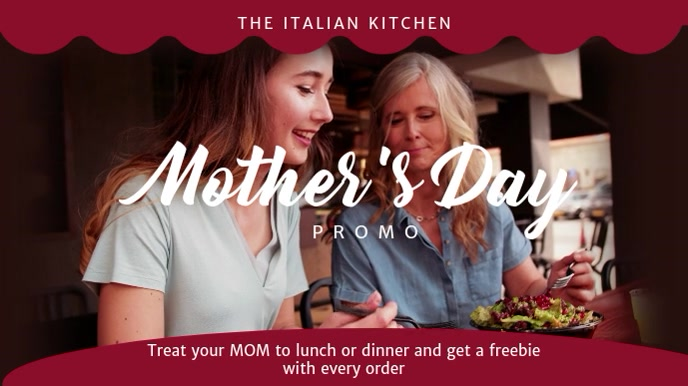 Mothers Day Restaurant Promo Video Template