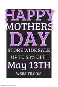 Mothers Day Retail Poster