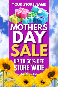 Mothers Day Retail Sale Poster
