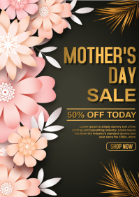Mothers day sale A4 template