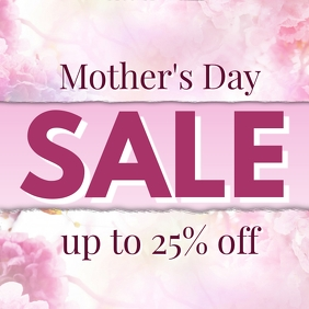 Mothers Day Sale Discount Special Offer Deal Promotion Ad