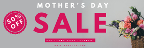 MOTHERS DAY SALE FLYER TEMPLATE banner 横幅 2' × 6'