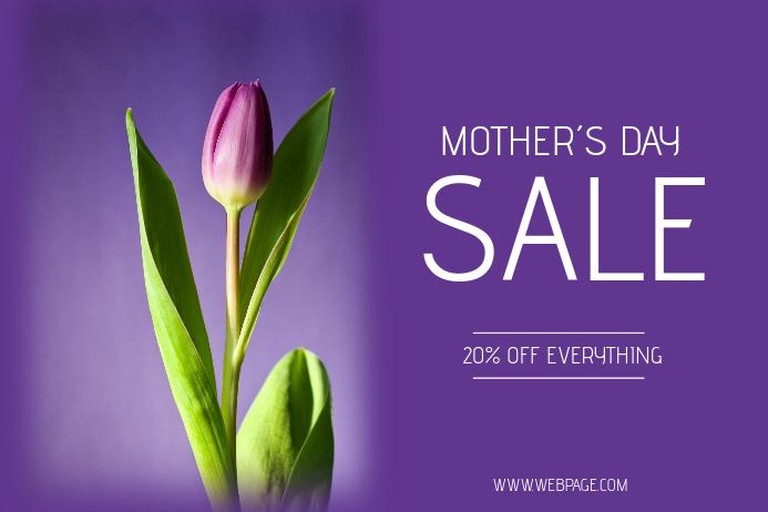 mothers day sale flyer template landscape