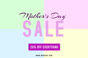 mothers day sale landscape flyer template