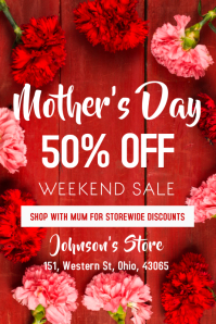 Mothers Day Sale Poster Template