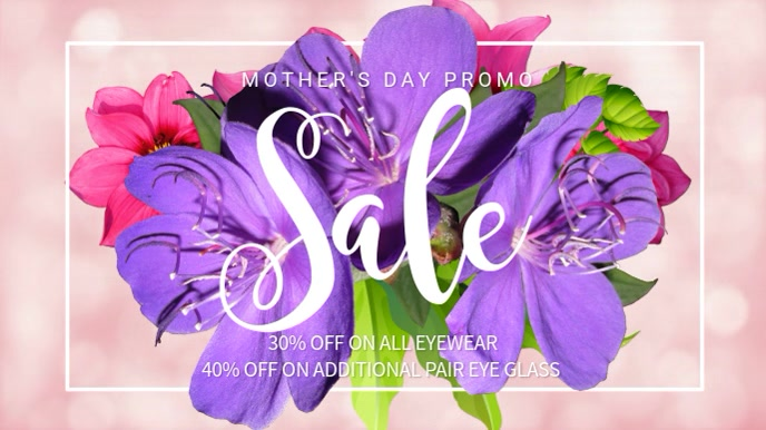 Mothers Day Sale Video Template 数字显示屏 (16:9)