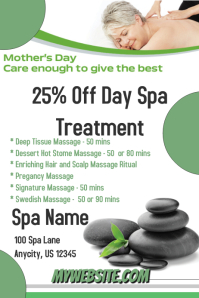 Mothers Day Spa Treatment Flyer