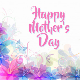 mothers day template Instagram-bericht