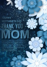 Mothers day video A4 template