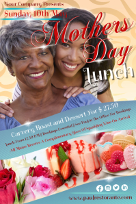 mothers day7 Poster template