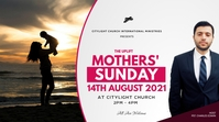 MOTHERS sunday church flyer Tampilan Digital (16:9) template