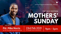 MOTHERS sunday church flyer Display digitale (16:9) template
