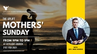 MOTHERS sunday church flyer Digitale display (16:9) template