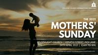 MOTHERS sunday church flyer Affichage numérique (16:9) template