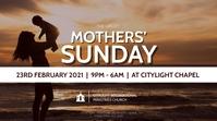 mothers sunday church flyer Digital Display (16:9) template