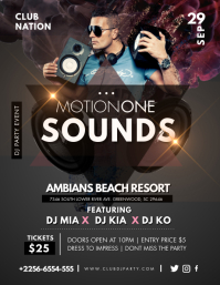 Motion Sounds Music Flyer template