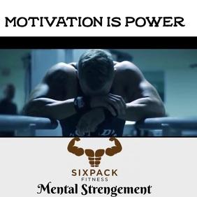 Motivation is power Instagram Post template