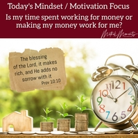 Motivation Mindset Focus Instagram Post template