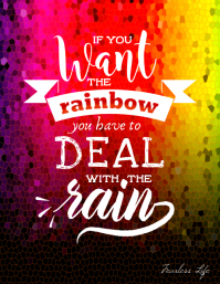 Motivation Poster about Rain and Rainbow
