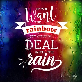 Motivation video about Rain and Rainbow