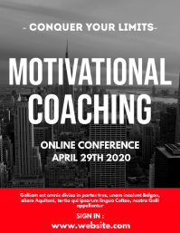 motivational coaching flyer template design