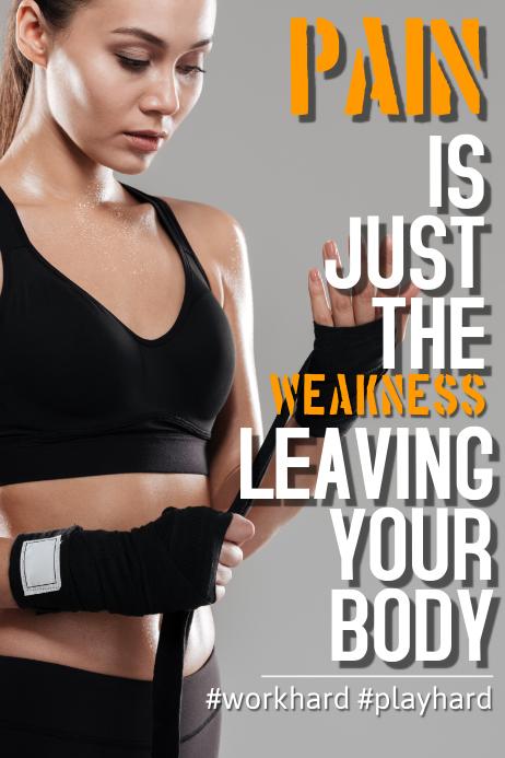 Plantilla De Plantillas De Carteles De Fitness Motivacional